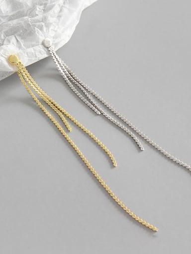 Sterling silver simple flat beads long ear wire