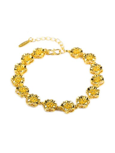 Ethnic style Flowers Gold Plated Bracelet