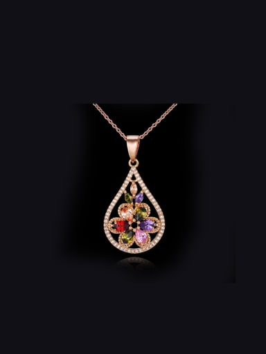 Retro Water Drop Colorful Necklace