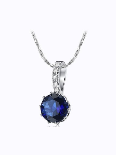 Copper Alloy White Gold Plated Fashion Simple Zircon Necklace