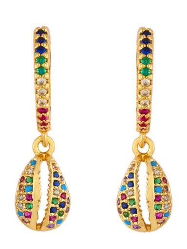 Copper With Cubic Zirconia Trendy Geometric Drop Earrings