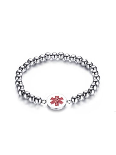 Creative Medical Logo Shaped Stainless Steel Bracelet