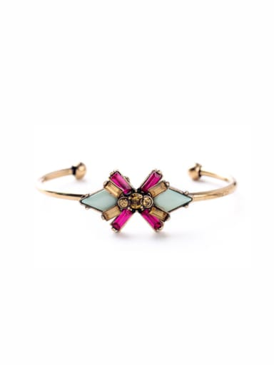 Alloy Rose Gold Plated Bow Bangle
