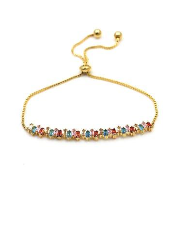 Copper With Cubic Zirconia Delicate Geometric  Adjustable Bracelets