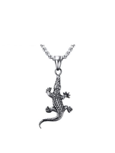 Exquisite Crocodile Shaped Stainless Steel Pendant