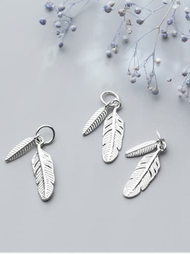 925 Sterling Silver With Silver Plated Trendy Leaf Bails