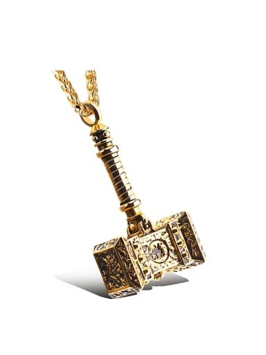 Punk style Little Hammer Titanium Men Necklace
