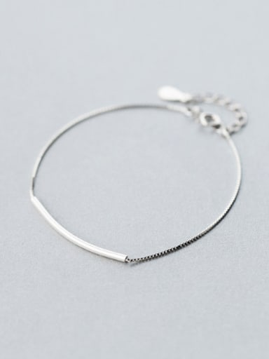 S925 silver smiling  arc fashion bracelet