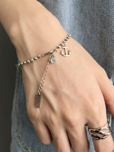 Pure Silver Antique anchor Bracelet