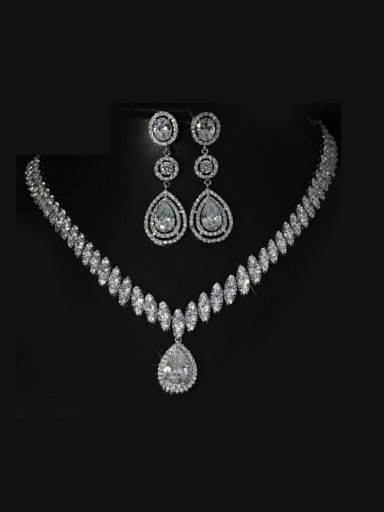 Wedding Party Water Drop Shaped Jewelry Set