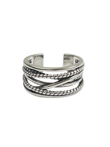 Retro style Antique Silver Plated Opening Ring
