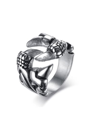 Vintage Claw Shaped Stainless Steel Ring