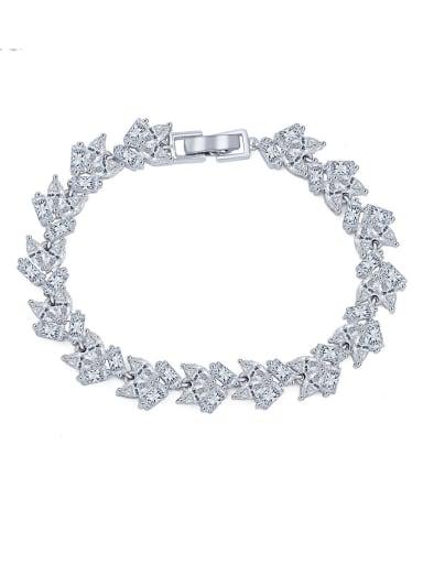 Copper With Platinum Plated Luxury Geometric Bracelets