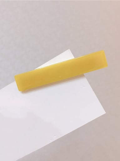 yellow Alloy With Cellulose Acetate  Simplistic Geometric Barrettes & Clips