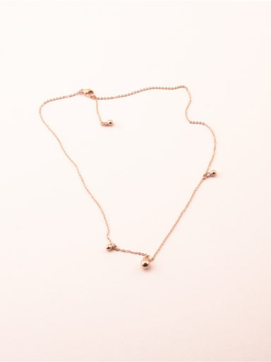 Women Small Beans Clavicle Necklace