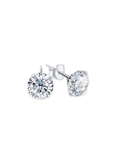 S925 Silver classical Single zircon stud Earring