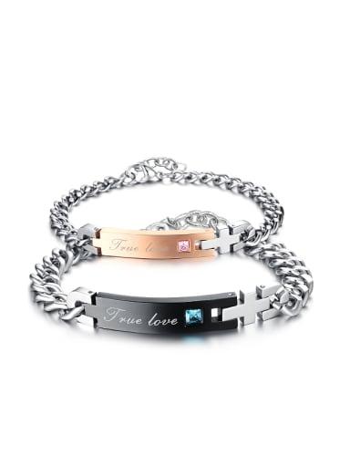 Fashion Cubic Zircon Titanium Plating Bracelet