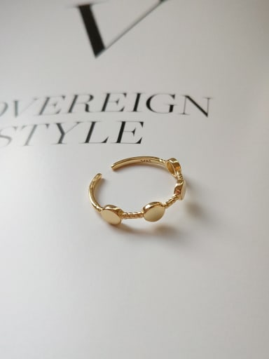 925 Sterling Silver With 18k Gold Plated Simplistic Round Rings