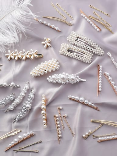 Alloy With New retro pearl hairpin Hair Pins