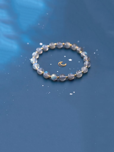 925 Sterling Silver With Gold Plated Simplistic Charm Bracelets