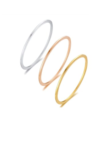Stainless Steel With Smooth  Simplistic Round Bangles