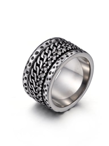 Stainless Steel With Antique Silver Plated Vintage Coat Of Arms Rings