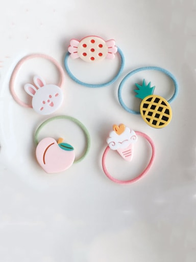 Rubber Band With Cellulose Acetate Cute Fruit Children  Hair Ropes