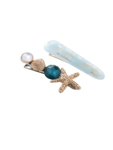 Alloy With Resin  Fashion Starfish shell  Barrettes & Clips