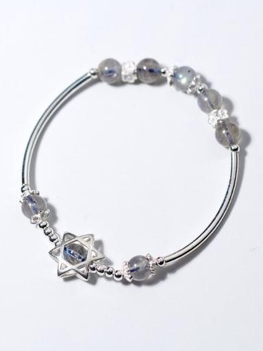 925 Sterling Silver With star bracelets & moonstone Bracelets
