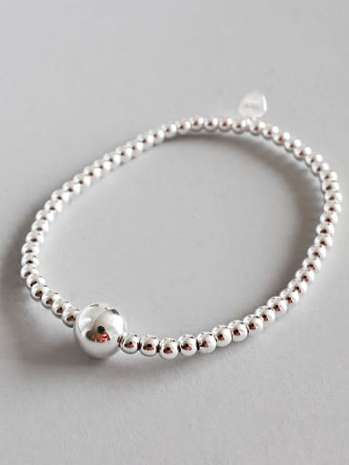 Pure silver handmade beads 3mm Bracelet