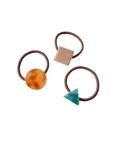 Rubber Band With Cellulose Acetate Fashion  Geometry Hair Ropes