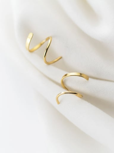 925 Sterling Silver With Smooth Simplistic Irregular Threader Earrings