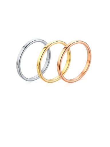 Stainless Steel With Smooth Simplistic Round Band Rings