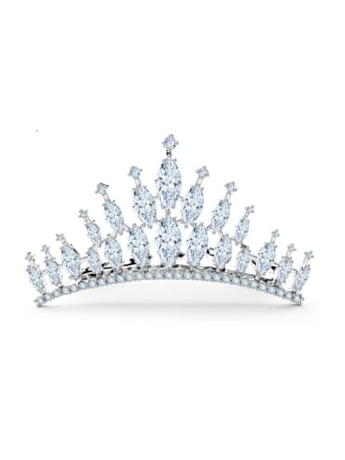 Copper inlaid 3A zircon fashion crown hairpin bride hair accessories