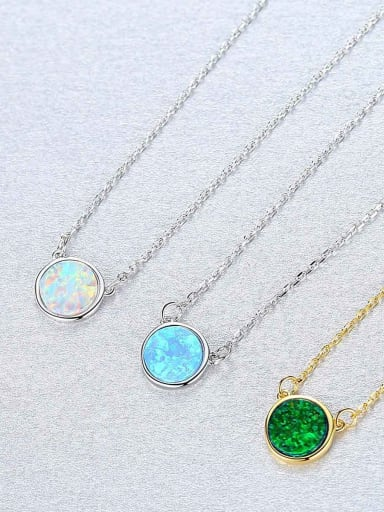 Sterling Silver minimalist opal Mini Necklace