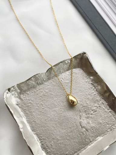 Sterling silver water drop simple necklace