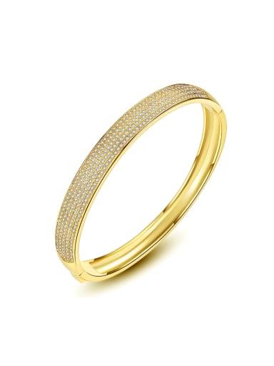 Copper inlaid AAA zircon simple  Bracelet