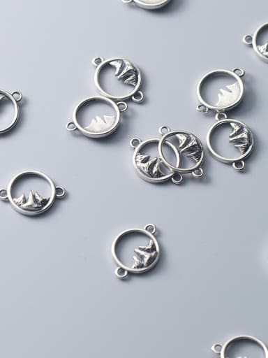 925 Sterling Silver With Antique Silver Plated Simplistic Irregular Beads
