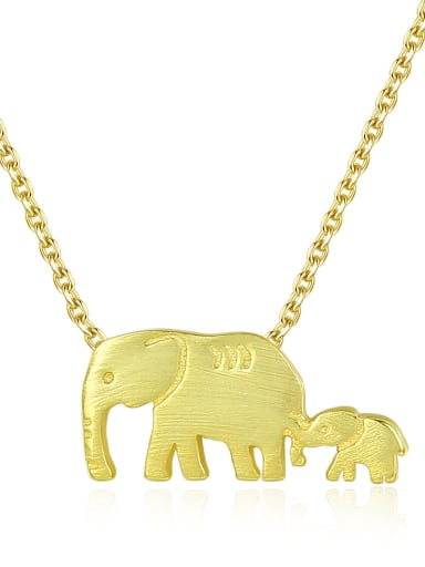 Sterling silver animal cute elephant necklace