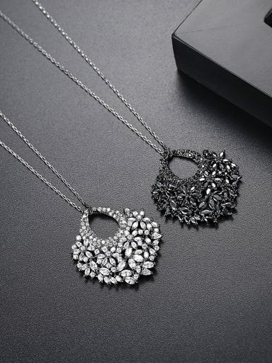 Fashion fan AAA zircon dinner Necklace Gift