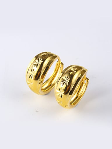 Retro style Gold Plated Clip Earings