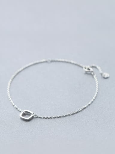 S925 Silver Sweet Simplicity Square Bracelet