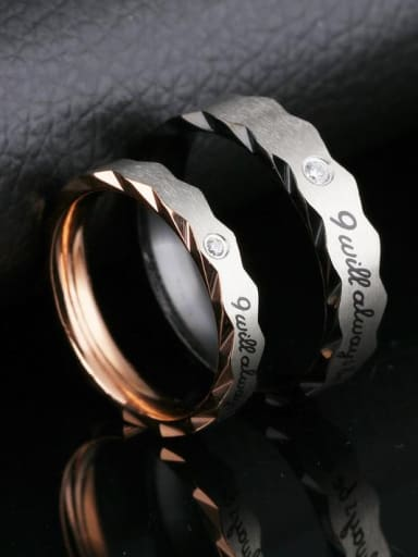 Stainless Steel With Rose Gold Plated Fashion Geometric Rings