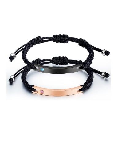 Stainless Steel With Weaving Simplistic Geometric Adjustable Bracelets