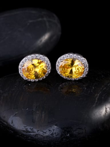 Noble AAA Zircons Stud Cluster earring