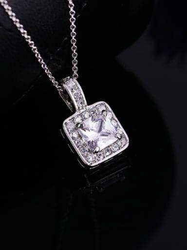 Simple AAA Zircon Necklace