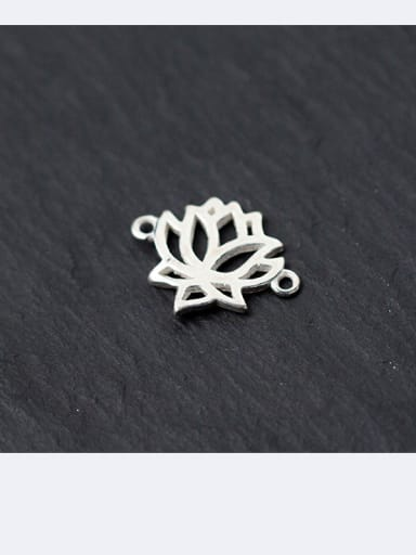 925 Sterling Silver With Silver Plated Lotus Connectors