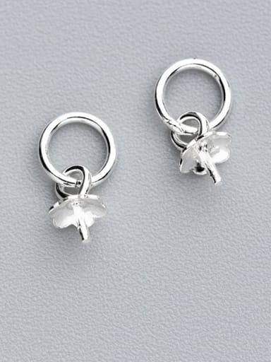 925 Sterling Silver With Silver Plated Classic Flower Bails