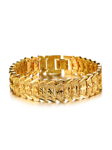Fashion Exaggerated Gold Plated Women Bracelet