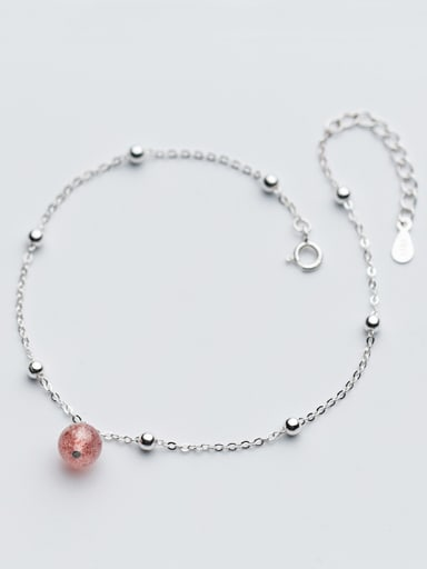 Elegant Round Shaped Crystal S925 Silver Foot Jewelry